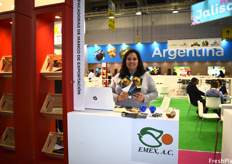 Myrna Castro, Director of Emex A.C., who are part of the Mexico pavilion.