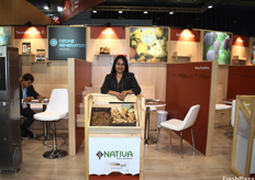 Rocio Callan of Nativa Organics, who produce organic ginger and curcuma and export it into Europe, the US, and Canada.