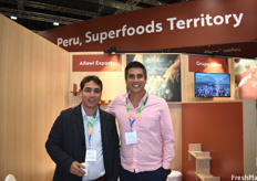 Mario Vidaurre Fox and Alonso Salcedo Del Pozo of Añawi Export who produce organic ginger for the European and American markets.