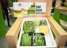 San Juan Agroexport exhibited as part of the Guatemalan pavilion and shows their Guatemala-grown vegetables.