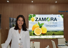Luciana Inés Zamora of Zamora Citrus Argentina. The company prides itself on producing zero-residue lemons.