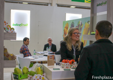 Interfruit stand was so busy