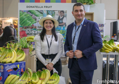 Mari Laura Ortíz Burgasi and Ferhat Hafizoglu of Donatella Fruit Ecuador S.A.