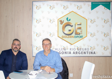 Juan Manuel Stremel and Guillermo Espinazo of Golden Export