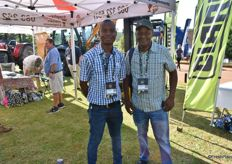Macdonald Makoro from Santam and Mlungisi Mukansi of Manela Spruit Estate, a mango and avocado farm.