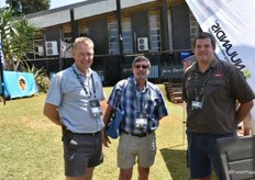 Riaan Genis, a Westfalia farm manager, Rob Morris of Nikiwe Consulting and André Lutge, also a Westfalia farm manager.