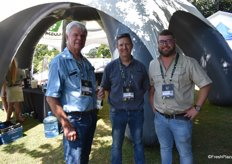 Piet Visser and Andries van Tonder of Nulandis with Jacques Landman of Agri Technovation.
