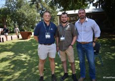Hansie Grobler of Afrupro, Jacques Engelbrecht of Alvangel Tzaneen and Stefan Goosen of Mafroda.