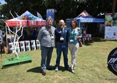 Renier Esterhuizen and Louis Olivier of Tag Consulting with Christa De La Port of Subtrop, the umbrella organisation for subtropical fruit.