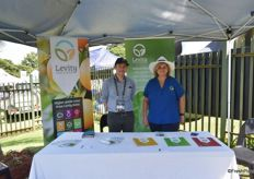 David Marks and Anne Davson of Levity Crop Science, a new addition to the South African agricultural industry.
