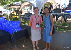 Zelda van Rooyen of Westfalia with Dr Jayeni Hiti-Bandaralage of the University of Queensland.