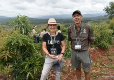 Annie Wolff of Diepgelegen Farm in Magoebaskloof and Philip Muller of Pimuju Farm in Tzaneen.