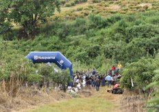 Husqvarna, main sponsor of the Maluma Symposium, with a demonstration of their equipment in the orchard.