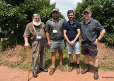 Dawid Grobbelaar, avocado farmer from Mashutti in Agatha Hills, Jovan Erasmus of Netafim in Nelspruit, Lourens Jooste also farming avocados in Agatha Hills and Manie Eloff, Agrivet Boerdery in Soekmekaar.