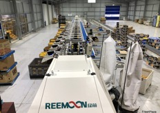 The Reemoon sorting machine arrived at the farm in eight containers