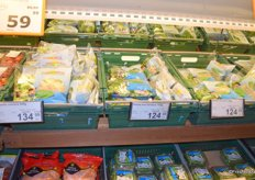 Popular salad mixes from Italian company Mioorto.