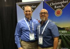 Anthony DeAngelis and Rich Pirozzoli of Christopher Ranch of Gilroy, Ca.