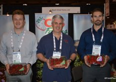 Luke Scurich, Ed Kelly and Brad Peterson with CBS Farms