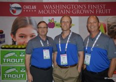 Stewart Lang, Daniel Gebbers and Mac Riggan with Chelan Fresh