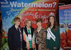 Megan McKenna, Cece Krumrine, Eleanor Bullock and the National Watermelon Queen Madison Laney represent the National Watermelon Promotion Board