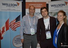 Jack Langelaan, Jesse Lyddiatt and Lindsay Pauls with Willson International