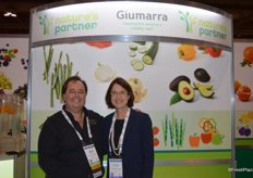 Gary Caloroso and Hillary Brick with Giumarra