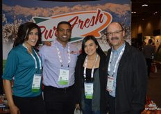 Harpreet Purewal, Bill Purewal and Brenda Gomez with Pure Fresh. On the right is Roger Arsenault with Loblaw.