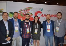 The team of Canadawide is well represented at CPMA. From left to right George Tsigakis (responsible for organic produce), Nick Pitsikoulis, Yanni Alexakis, Christine Lavoie, George Pitsikoulis and Greg Kritselas.