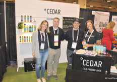 Ashley Cuff, Guy Millet, David Ford and Robyn Barefoot from Cedar promoting their cold pressed juices