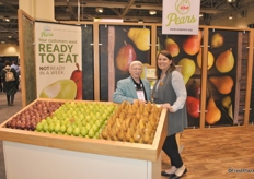 Bob Koehler and Kathy Stephenson from USA Pears