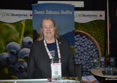 Debbie Etsell with BC Blueberries