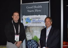 Todd Sanders and Ken Berger with the California Blueberry Commission