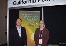 Chris Zanobini and Kassie Fraser representing California Pear Advisory Board.