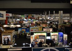 Tradeshow overview from the above. Photo taken from Peak of the Market's booth.