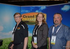 Steve Stewart, Tina Gokstorp and Chuck Woodfield with Grand Bend Produce.