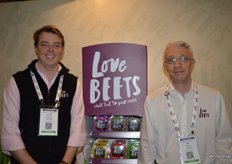 George Shropshire and Huw Griffith with Love Beets. Love Beets just introduced the beet bar.
