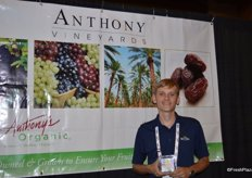 Eddie Legawiec with Anthony Vineyards, proudly showing dates.