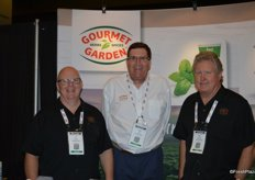 Craig Smith, Peter Clark and Dave Eldredge with Gourmet Garden.
