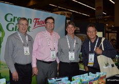 Bert Roberge, Steve Noll and Merritt Bruce with Growers Express. On the far right, Greg Holmes with BC Fresh Vegetables.