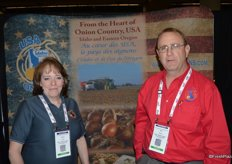 Candi Fitch and Tim Gluch with the Idaho/Eastern Oregon Onion Committee.