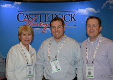 Laura Berryessa, Steve Shearer and Eric Coy with Castle Rock Vineyards.