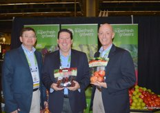Tim Lane, Howard Nager and Loren Queen from Domex Superfresh Growers.