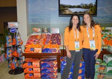 Julie DeWolf and Joan Wickham with Sunkist