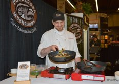 Ponderosa's chef Coleman Herrington preparing some delicious mushroom dishes.
