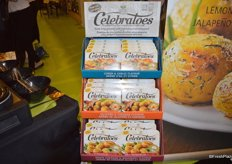 Celebratoes: a microwaveable potato that's available in three different flavors.