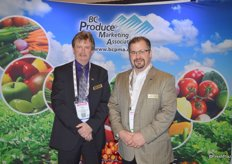 Rob Johnson of the BC Produce Marketing Association with Craig McCulloch of West Coast Produce.