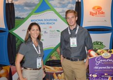 Kathleen Triou and Philip Enserink representing Fresh Solutions Network, a network of potato companies.