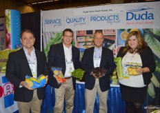 The Duda Fresh crew. From left to right Paul Huckabay, Tim Ross, Rick Alcocer and Elena Hernandez.