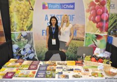 Menuka Shrestha and Susanne Bertolas from Fruits from Chile