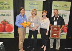 Becky Wilson, Kari Maggiorini, Stephanie Hilton and Paul Foster from Tom Lange promoting their citrus and strawberries.